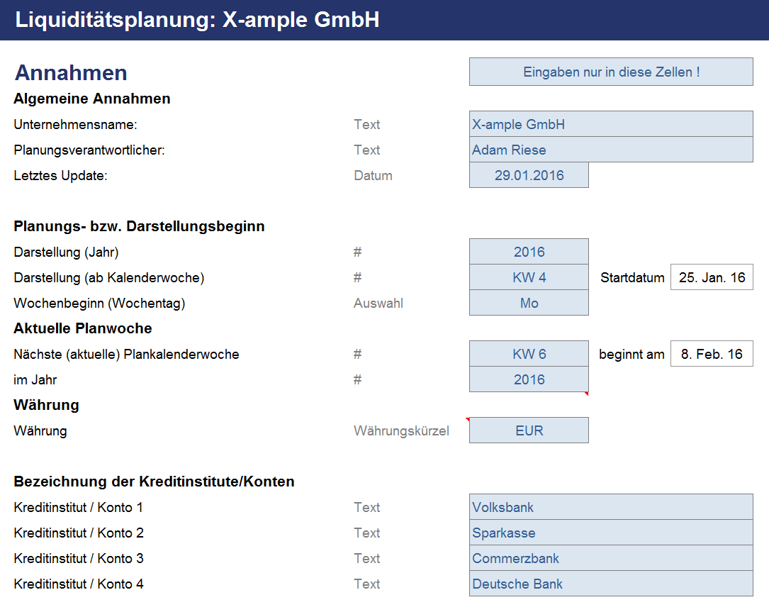 Groß Excel Jahresbudget Vorlage Zeitgenössisch - Beispiel ...