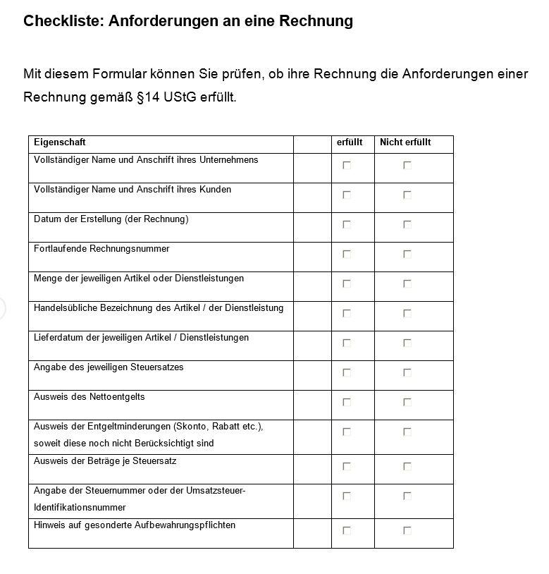 Veranstaltung Checkliste