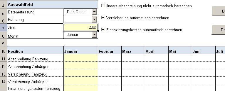 Excel Tool Rs Fuhrpark Verwaltung Verwaltung Und Analyses