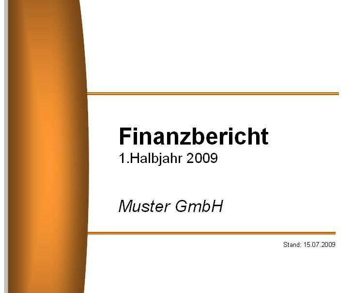 Finanzbericht - Vorlage